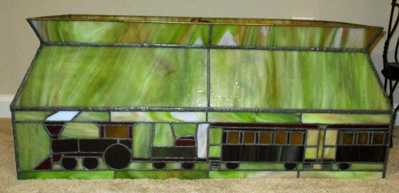 Stained glass train light fixture great for game room or over a stained glass train light fixture great for game room or over a pool table arubaitofo Image collections