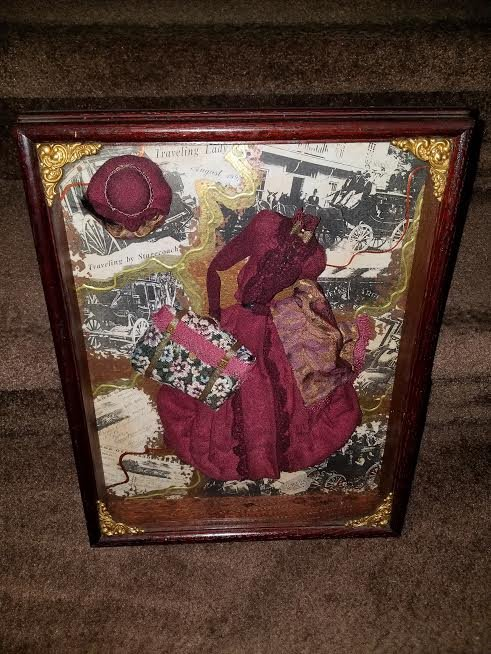 Victorian Shadow Box Picture