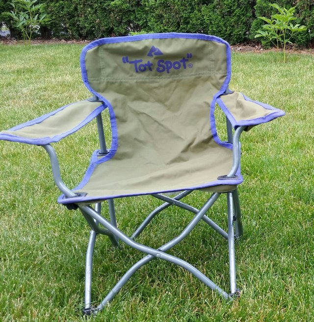 Tot Spot Camping Chair (olive/purple) In Sandwich