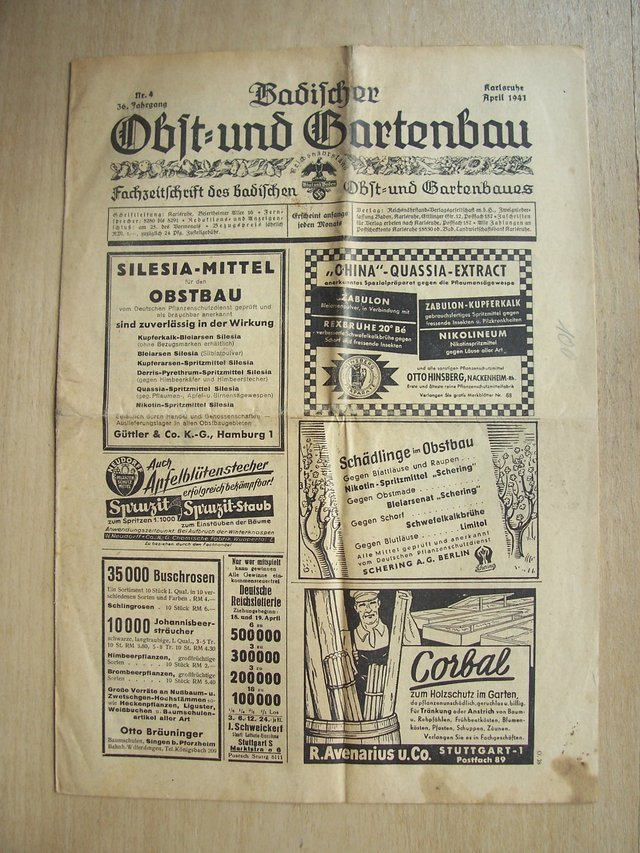 Gartenbau Wiesbaden april 1941 german magazine obst und gartenbau collectibles for