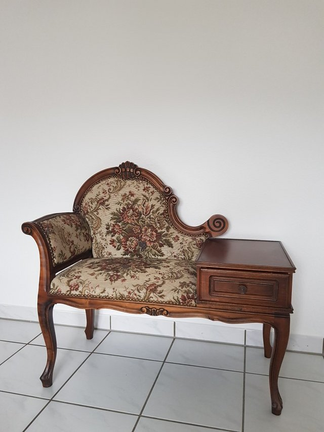 Antique Phone chair in Ramstein - Antique Phone Chair Furniture: Home - By Owner For Sale On