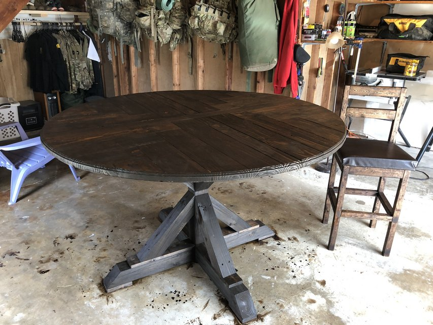 homemade solid wood kitchen table in fort polk homemade solid wood kitchen table   furniture  home   by owner for      rh   polk bookoo com