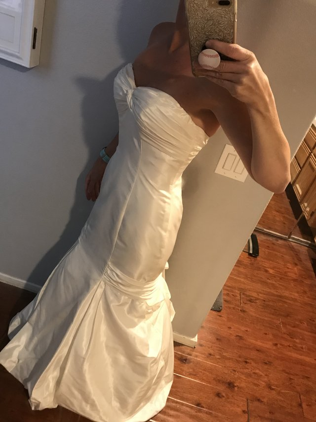 Gorgeous Prevue Bridal Moonlight Strapless Ivory Wedding Gown