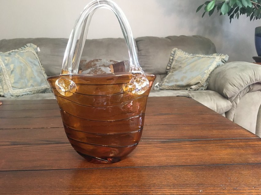 Murano Style Glass Purse Vase Home Decor For Sale On Fort Campbell