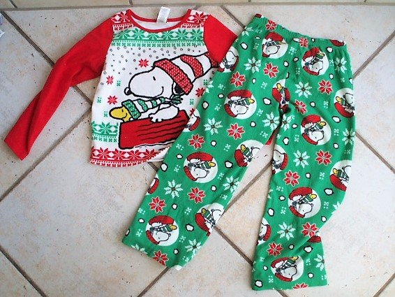 snoopy christmaswinter pjs size 8 m in stuttgart - Snoopy Christmas Pajamas