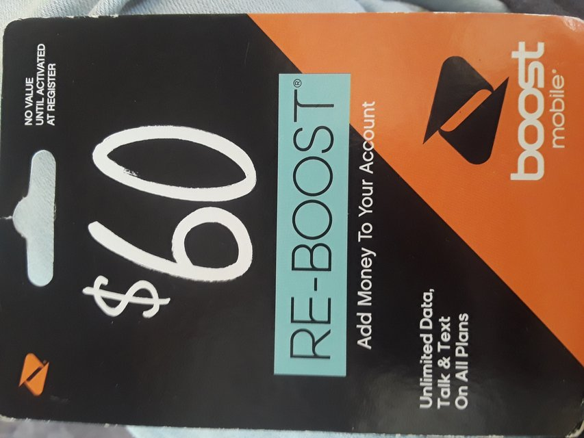 60 Boost Mobile Prepaid Refill Card Cell Phones For Sale On Polk